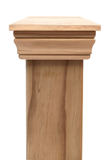 Replica PLAIN 45 series post cap to suit 125x125 Rough Sawn Posts
