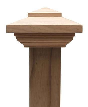 Contemporary PYRAMID post cap to suit 125x125 Rough Sawn Posts
