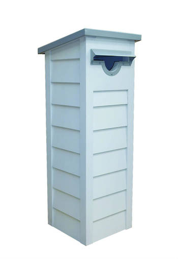 Mono H3.2 Pine Pre-Primed Pillar Letter Box