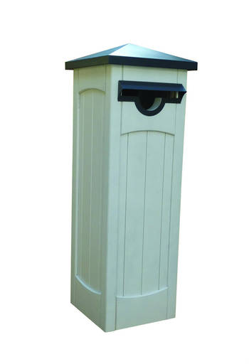 Roma H3.2 Pine Pre-Primed Pillar Letter Box