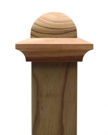 Classic DOME  post top to suit 100x75mm posts