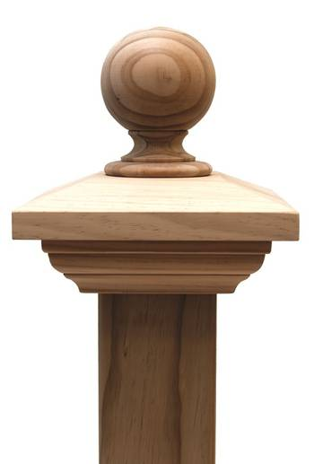 Contemporary BALL post cap to suit 125x125 Rough Sawn Posts