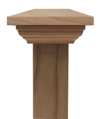 Contemporary PLAIN post cap to suit 100x100 Rough Sawn Posts