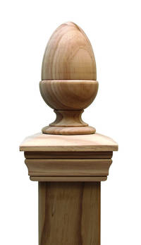 Replica ACORN 45 series post cap to suit 125x125 Rough Sawn Posts