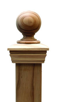 Replica BALL 45 series post cap to suit 100x75 Rough Sawn Posts