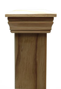 Replica PLAIN 45 series post cap to suit 150x150 Rough Sawn Posts