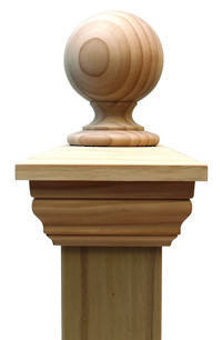 Replica BALL 90 series post cap to suit 400x400 Rough Sawn Posts