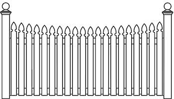 Classic Picket Fence Panels