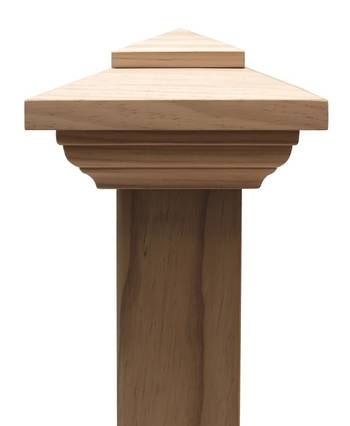 Contemporary PYRAMID post cap to suit 300x300 Rough Sawn Posts