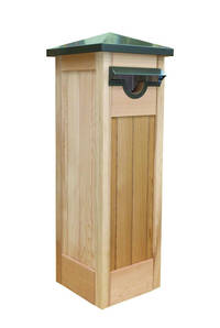 Lariano Western Red Cedar Pillar Letter Box